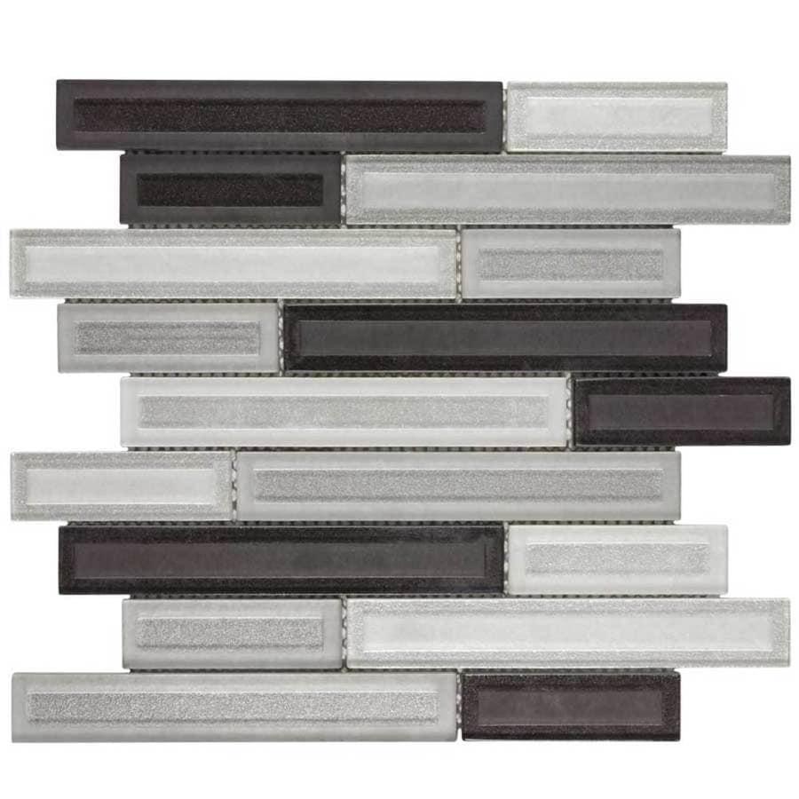 Elida Ceramica Artistry Linear Mosaic Gl Wall Tile Common 12 In X