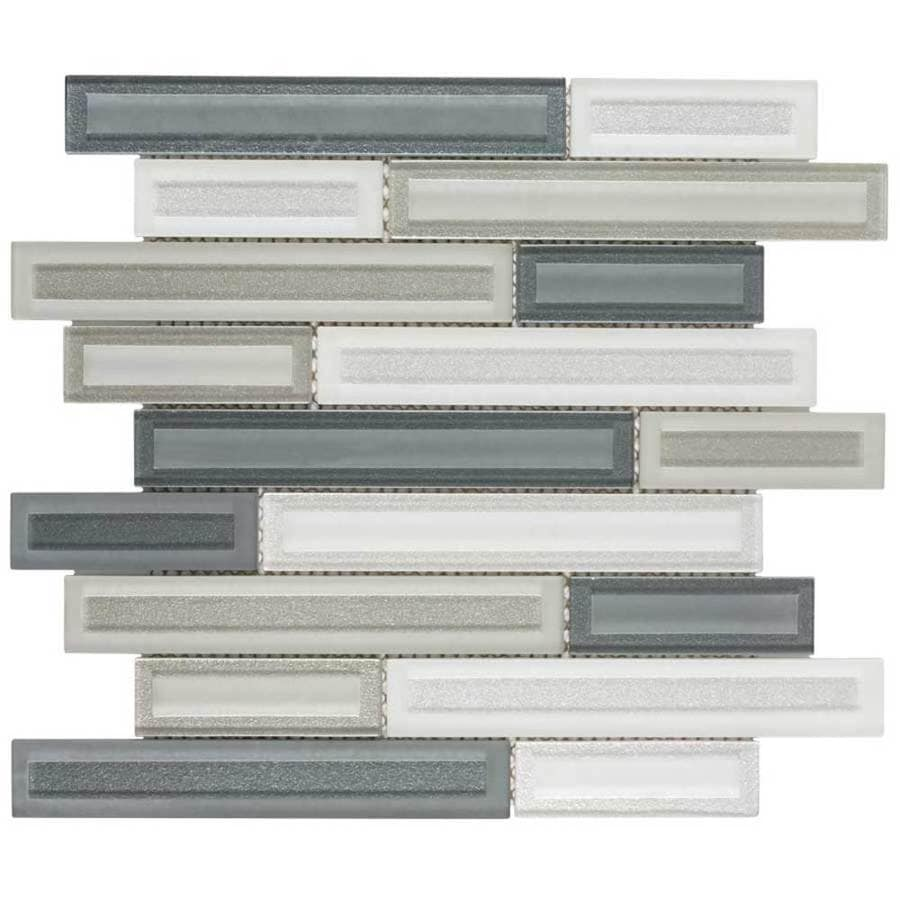Elida Ceramica Artistry Linear Mosaic Glass Wall Tile (Common: 12-in x 12-in; Actual: 11.5-in x 11.75-in)