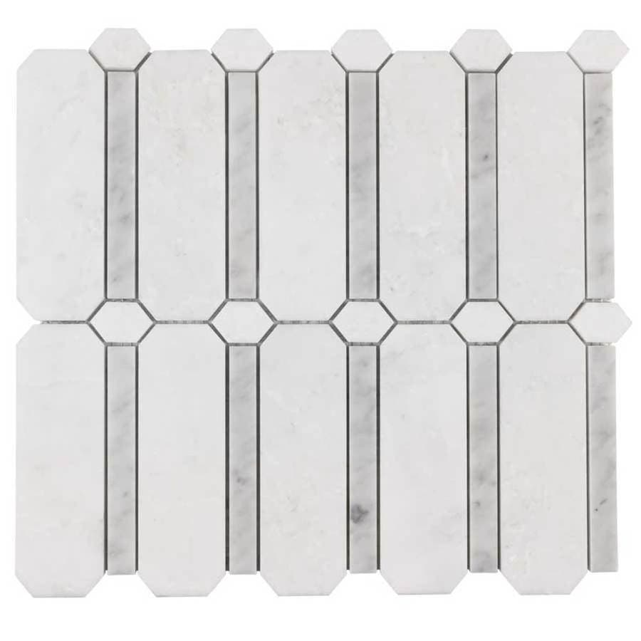 Elida Ceramica Savy Light Geo Mosaic Natural Stone Marble Floor and Wall Tile (Common: 12-in x 12-in; Actual: 11.5-in x 11.75-in)