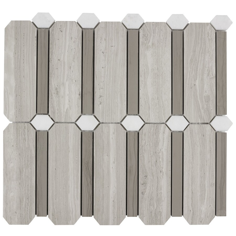 Elida Ceramica Savy Natural Geo Mosaic Natural Stone Marble Floor and Wall Tile (Common: 12-in x 12-in; Actual: 11.5-in x 11.75-in)