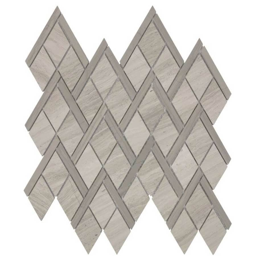 Elida Ceramica Savy Natural Peaks Mosaic Natural Stone Marble Floor and Wall Tile (Common: 12-in x 12-in; Actual: 9.37-in x 12.62-in)