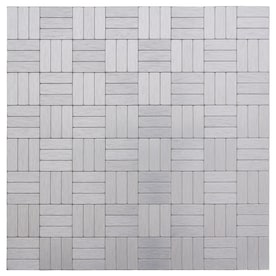 Peel&Stick Mosaics Peel and Stick Stainless Lines 12-in x 12-in Metal Linear Tile (Common: 12-in x 12-in; Actual: 12.008-in x 12.008-in)