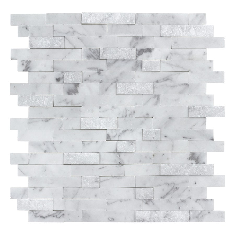 - Peel&Stick Mosaics Peel And Stick Stacked Carrara 10-in X 10-in