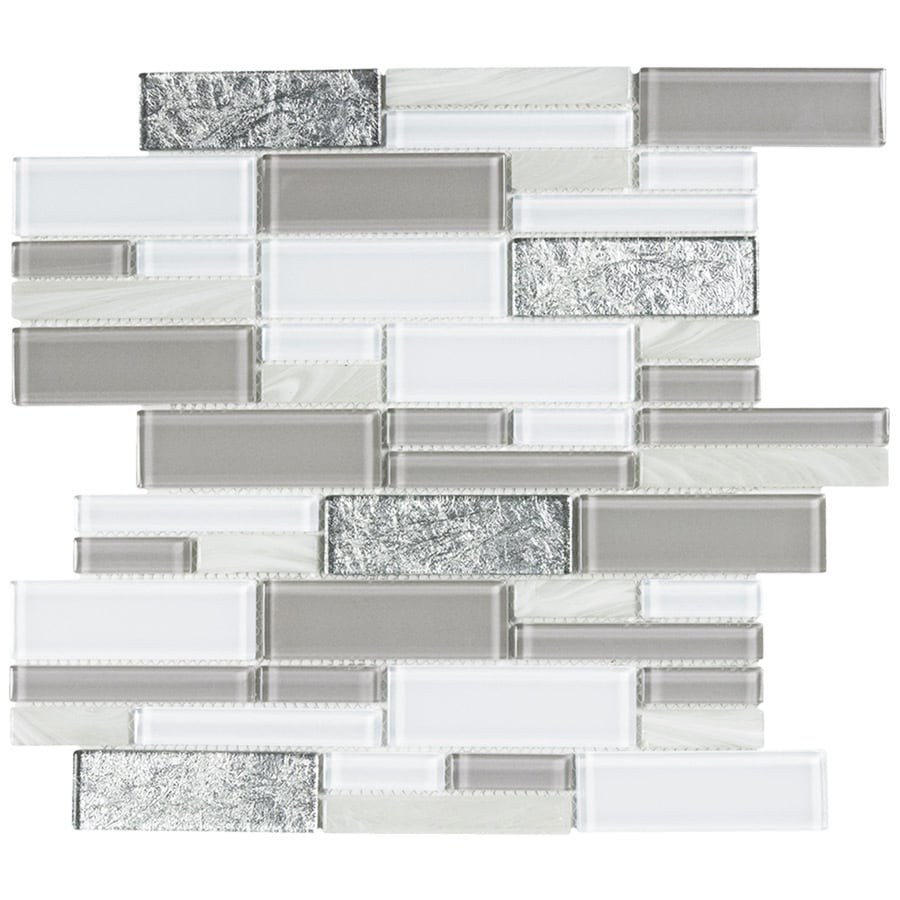 - Elida Ceramica Blended Luxor Linear Glass 12-in X 12-in Glossy