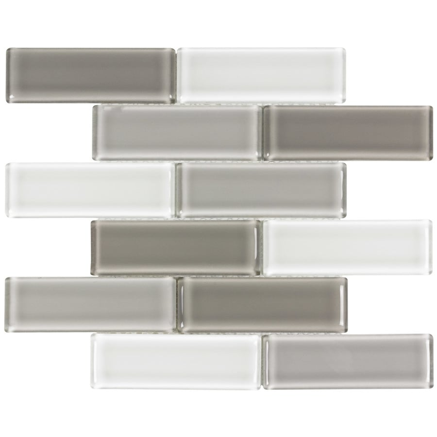 Elida Ceramica Pure Oasis 2x6 Subway 12 In X 12 In Glass Linear