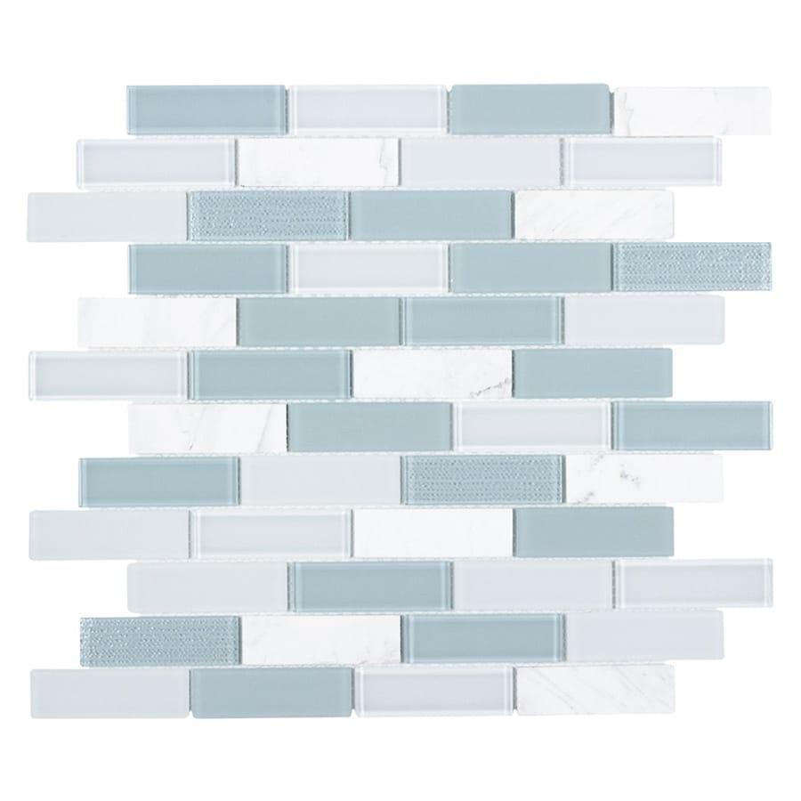 Shop Elida Ceramica SKYLIGHT BLENDED GLASS Linear Mosaic Wall Tile ...