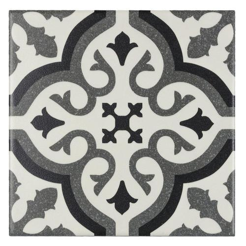Elida Ceramica Lolita Deco Squares 6 In X 6 In Matte Porcelain Encaustic Floor And Wall Tile In The Tile Department At Lowes Com