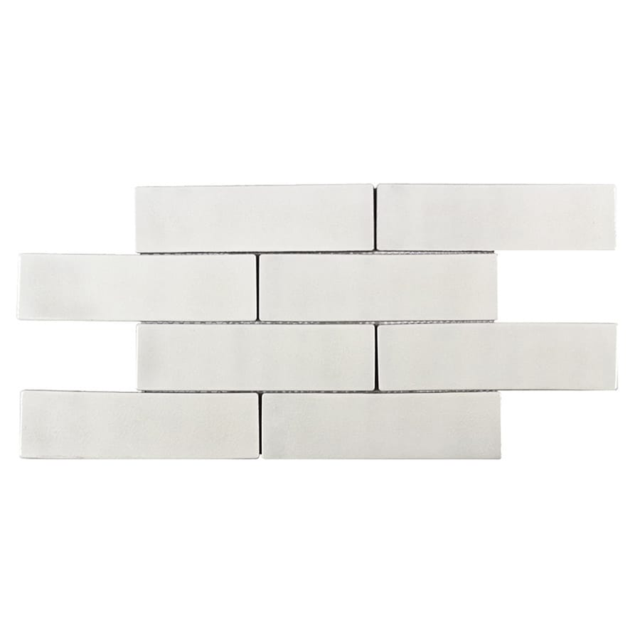 Shop Elida Ceramica Harmony White Subway Brick Mosaic Subway Wall