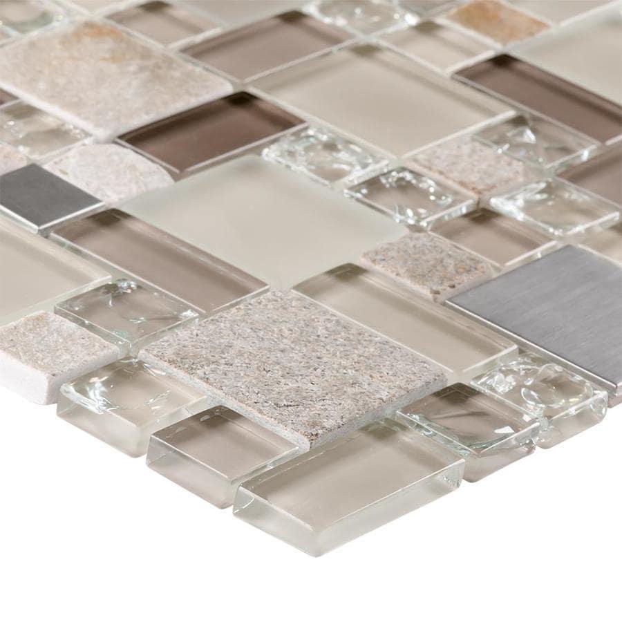 Elida Ceramica Sample Mixed Pattern Mosaic Glass Metal