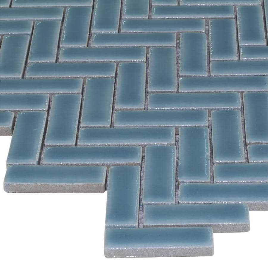 Shop Elida Ceramica Herringbone Mosaic Ceramic Tile Sample (Common ...