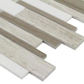 Elida Ceramica Linear Mosaic Marble Tile Sample Common 6 In X