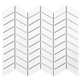 Elida Ceramica Tribal White Ceramic 12-in x 12-in Porcelain Mosaic Dimensional Wall Tile (Common: 12-in x 12-in; Actual: 12.64-in x 10.67-in)