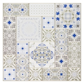 Peel&Stick Mosaics Peel and Stick Karlita 10-in x 10-in Glossy Composite Linear Mosaic Tile