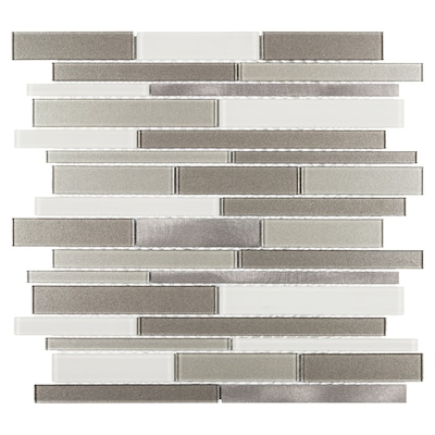 Elida Ceramica Coquina Ridge 12 In X 12 In Glossy Glass And Metal
