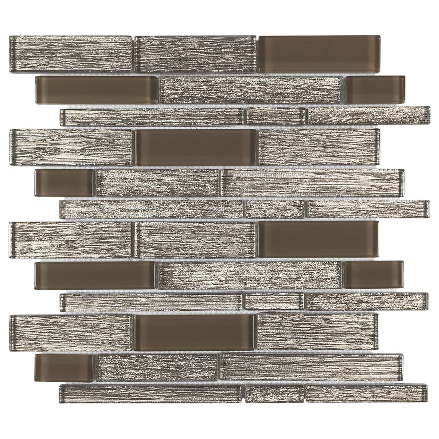 Elida Ceramica Sparkle Sparkling Terrain Brown 12 In X 13 In Glossy Glass Linear Wall Tile In The Tile Department At Lowes Com