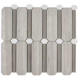 Elida Ceramica Beige 12-in x 12-in Polished Natural Stone Marble/Limestone Random Mosaic Floor and Wall Tile