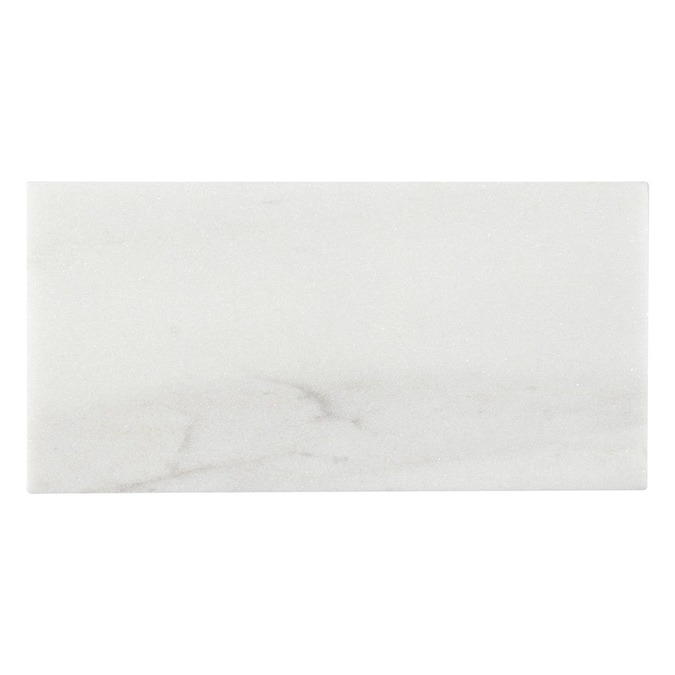 elida ceramica white 3 in x 6 in honed natural stone marble subway floor and wall tile