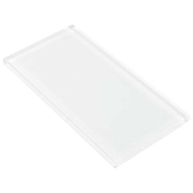 Elida Ceramica 4x8 Super White Glass 4 In X 8 In Glossy