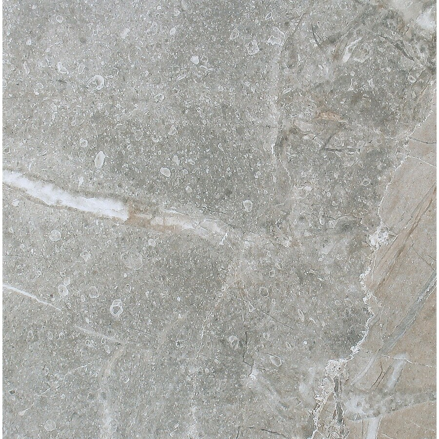 FLOORS 2000 Tirreno 7-Pack Gris Porcelain Floor and Wall Tile (Common: 18-in x 18-in; Actual: 17.72-in x 17.72-in)
