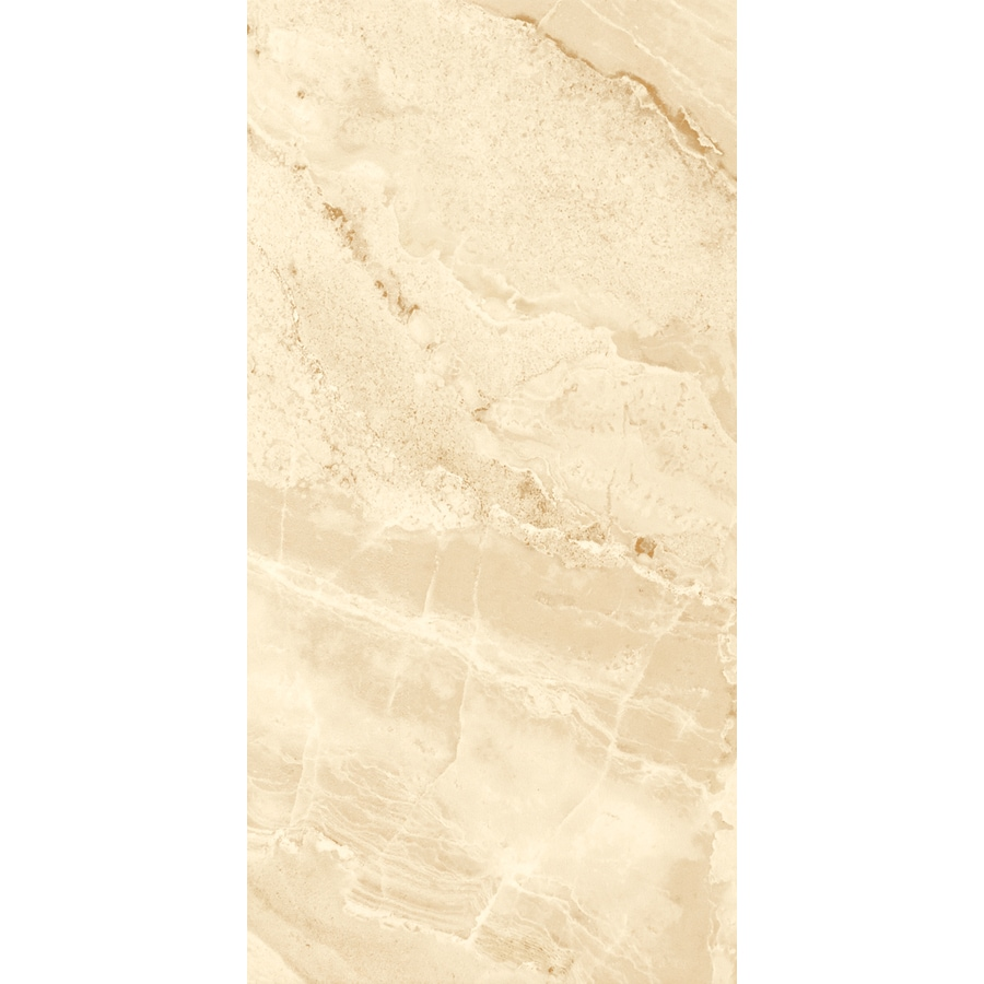 FLOORS 2000 Aura 6-Pack Beige Porcelain Floor and Wall Tile (Common: 12-in x 24-in; Actual: 23.63-in x 11.81-in)
