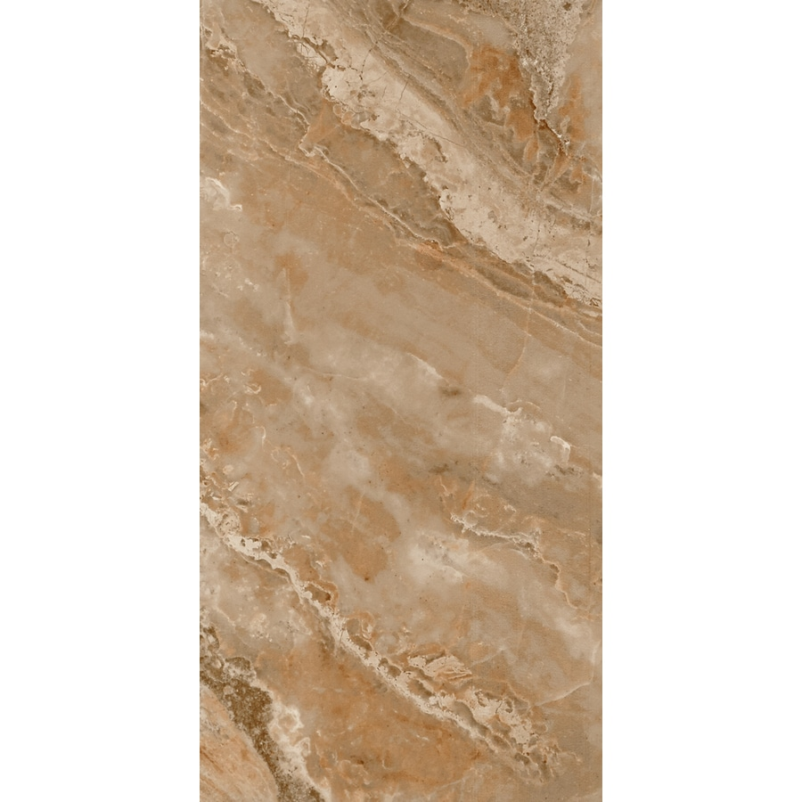 FLOORS 2000 Aura 6-Pack Marron Porcelain Floor and Wall Tile (Common: 12-in x 24-in; Actual: 23.63-in x 11.81-in)