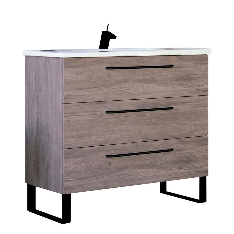 Ash Oak Single Sink Bathroom Vanity