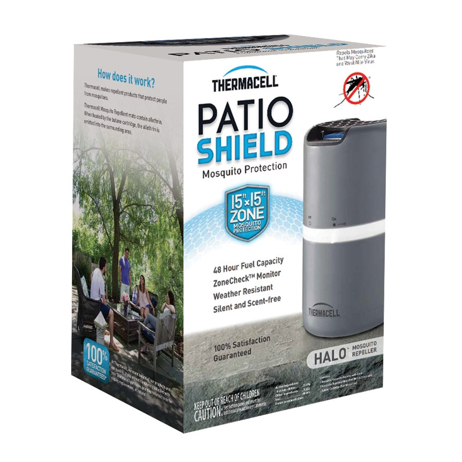 Beautiful Thermacell Patio Shield Halo Mosquito Repeller Gray