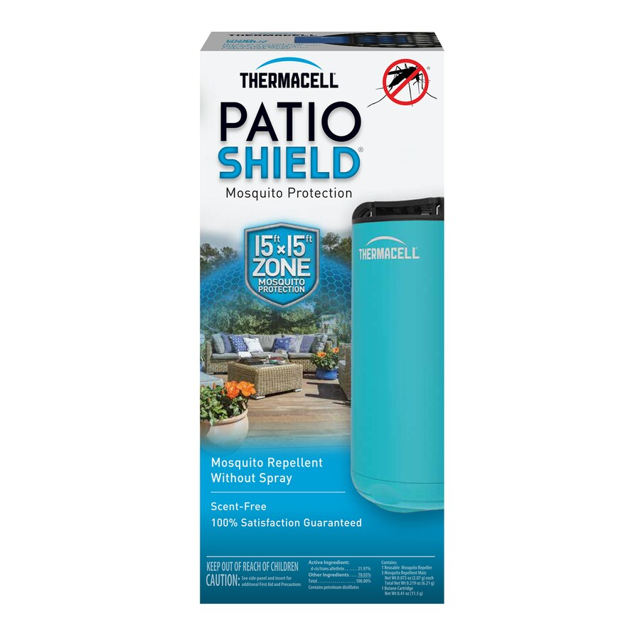 Thermacell Mini Patio Shield Blue 1 Count Gas Insect Repeller At Mosquito And Bug Electronic Kit