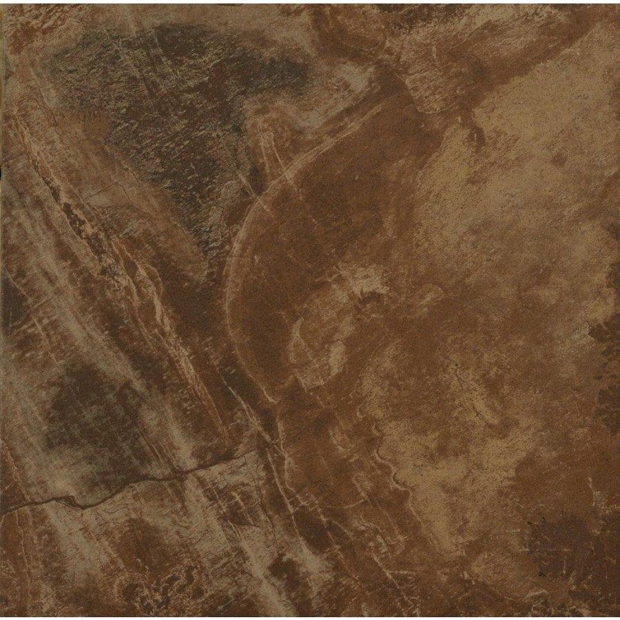 StonePeak Ceramics Inc. 12-in x 12-in Aspen Sunset Glazed Porcelain Floor Tile