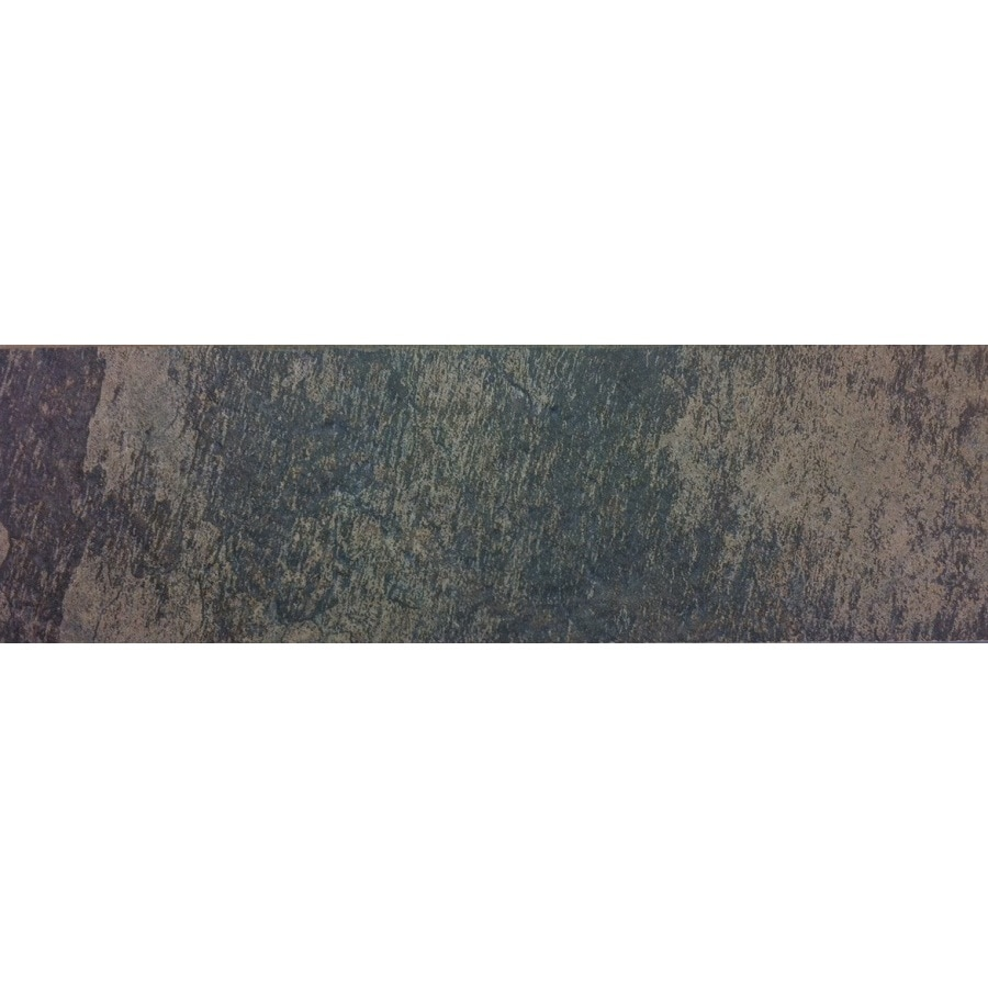Style Selections Aspen Sunset Porcelain Slate Bullnose Tile Common 3 In X 12