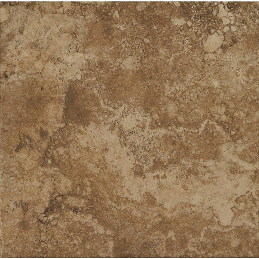 Shop stonepeak ceramics inc 12 in x 12 in durango noce glazed porcelain floor tile at Ceramic stone tile