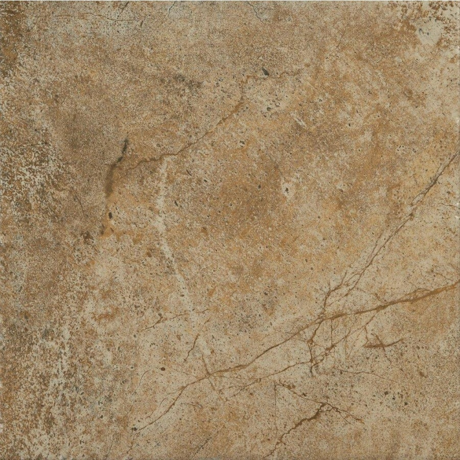 Shop style selections florentine scabos porcelain travertine floor and wall tile common 12 in Porcelain tile flooring