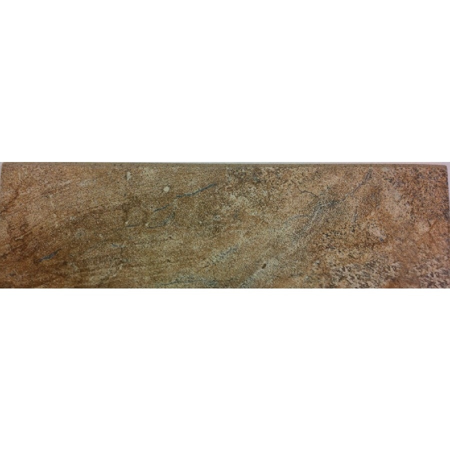 Style Selections Floine Scabos Porcelain Travertine Bullnose Tile Common 3 In X 12