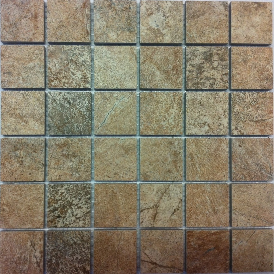 Style Selections Florentine Scabos Porcelain Travertine Border Tile (Common: 12-in x 12-in; Actual: 11.73-in x 11.73-in)