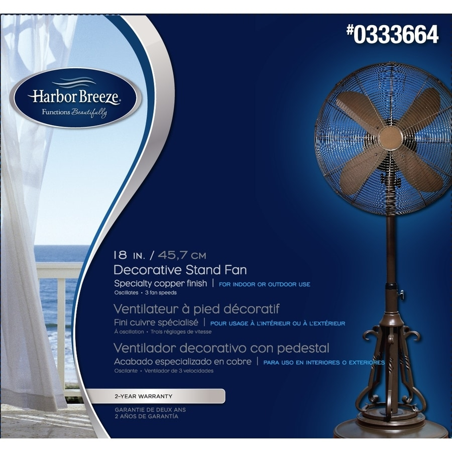 Shop Harbor Breeze 18 3 Speed Oscillating Stand Fan At Lowes Com