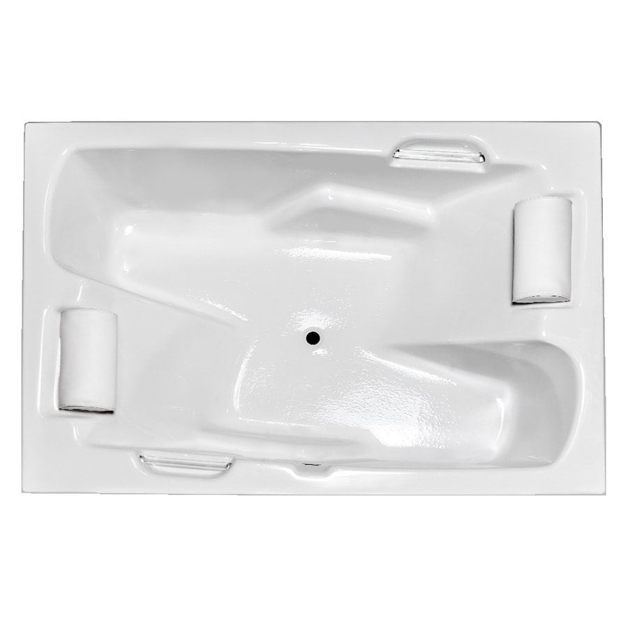 Laurel Mountain Oakmont White Acrylic Rectangular Drop-in Bathtub with Center Drain (Common: 48-in x 70-in; Actual: 26-in x 48-in x 72-in