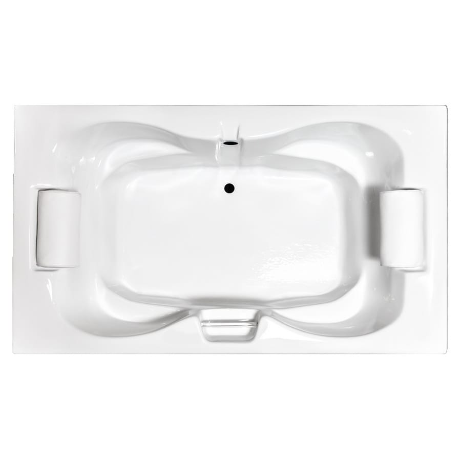 Laurel Mountain Seneca White Acrylic Hourglass Drop-in Bathtub with Center Drain (Common: 42-in x 60-in; Actual: 23-in x 42-in x 60-in
