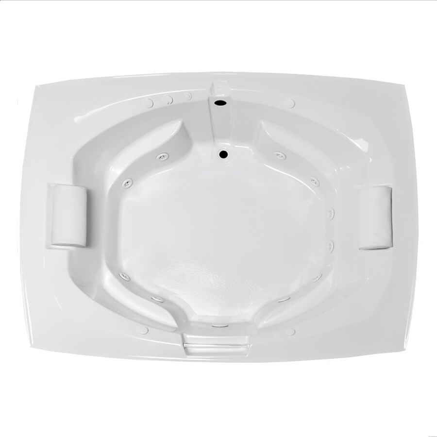 Laurel Mountain Bedford 2-Person White Acrylic Oval In Rectangle Whirlpool Tub (Common: 62-in x 82-in; Actual: 24.5-in x 64-in x 81-in)