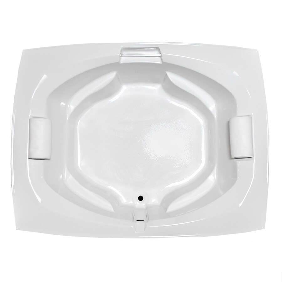 Laurel Mountain Bedford White Acrylic Oval In Rectangle Drop-in Bathtub with Center Drain (Common: 66-in x 81-in; Actual: 24.5-in x 63.25-in x 81-in