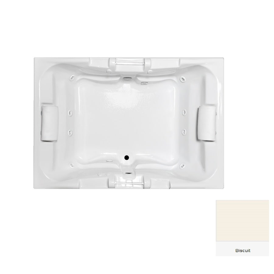Laurel Mountain Delmont 2-Person Biscuit Acrylic Rectangular Whirlpool Tub (Common: 42-in x 60-in; Actual: 23-in x 42-in x 60-in)