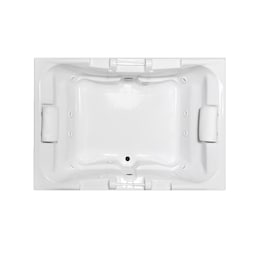 Laurel Mountain Delmont I 42 In W X 60 In L White Acrylic Rectangular Center Drain Drop In Whirlpool Tub In The Bathtubs Department At Lowes Com