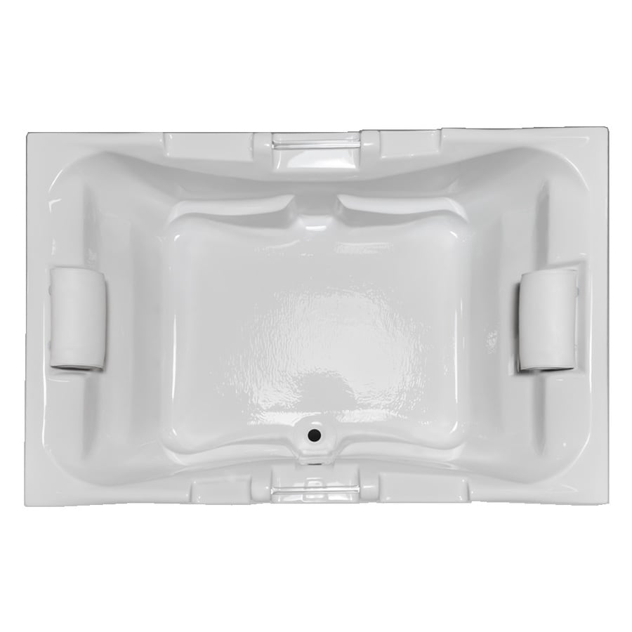 Laurel Mountain Delmont 59.625-in White Acrylic Drop-In Bathtub with Center Drain