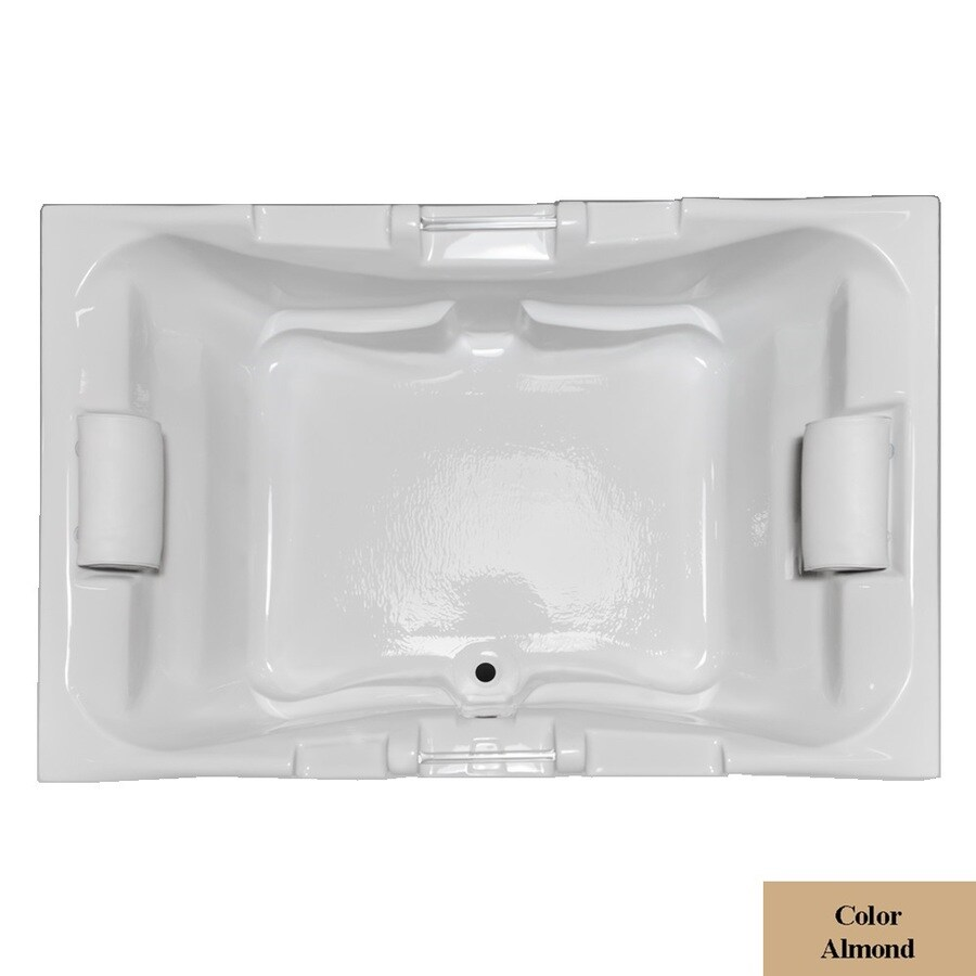 Laurel Mountain Delmont Almond Acrylic Rectangular Drop-in Bathtub with Center Drain (Common: 42-in x 60-in; Actual: 23-in x 41.75-in x 59.625-in