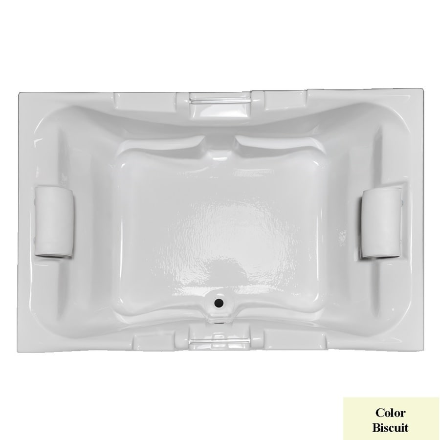 Laurel Mountain Delmont Biscuit Acrylic Rectangular Drop-in Bathtub with Center Drain (Common: 42-in x 60-in; Actual: 23-in x 41.75-in x 59.625-in