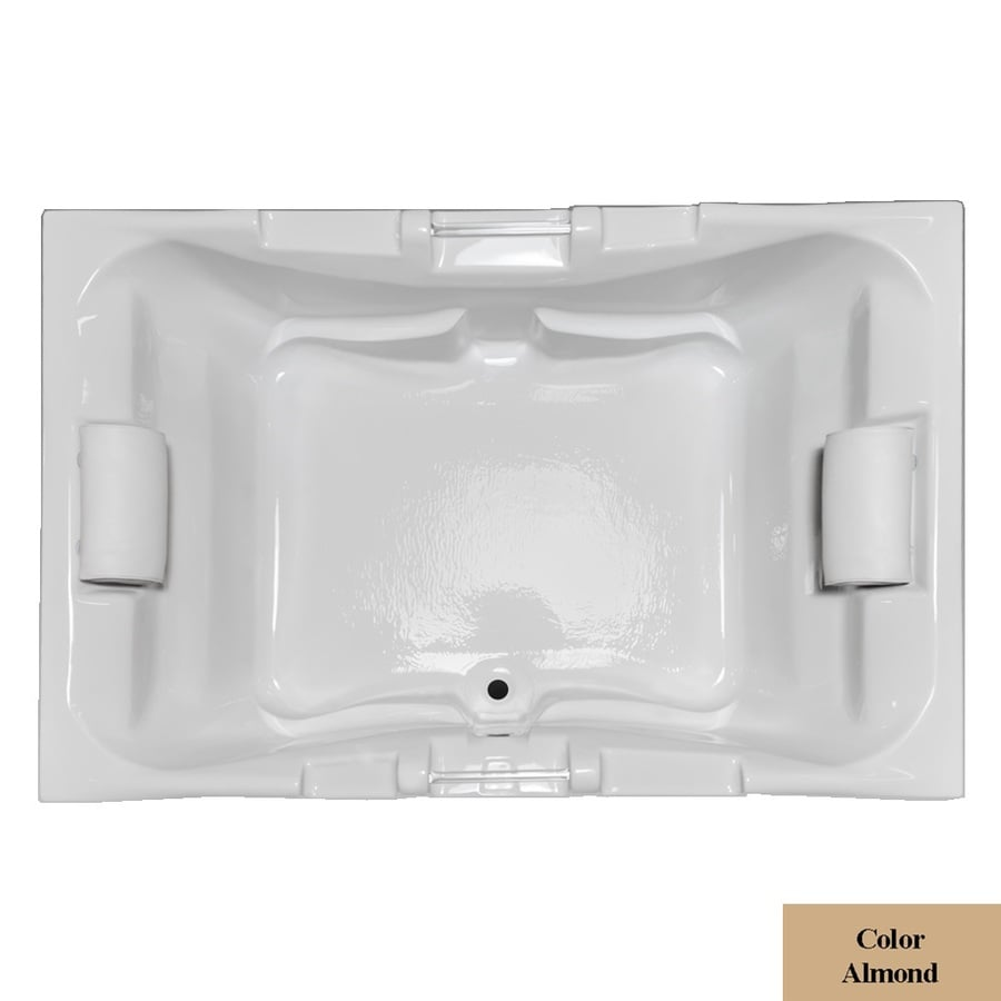 Laurel Mountain Delmont Ii Almond Acrylic Rectangular Drop-in Bathtub with Center Drain (Common: 48-in x 72-in; Actual: 23-in x 48-in x 71.25-in