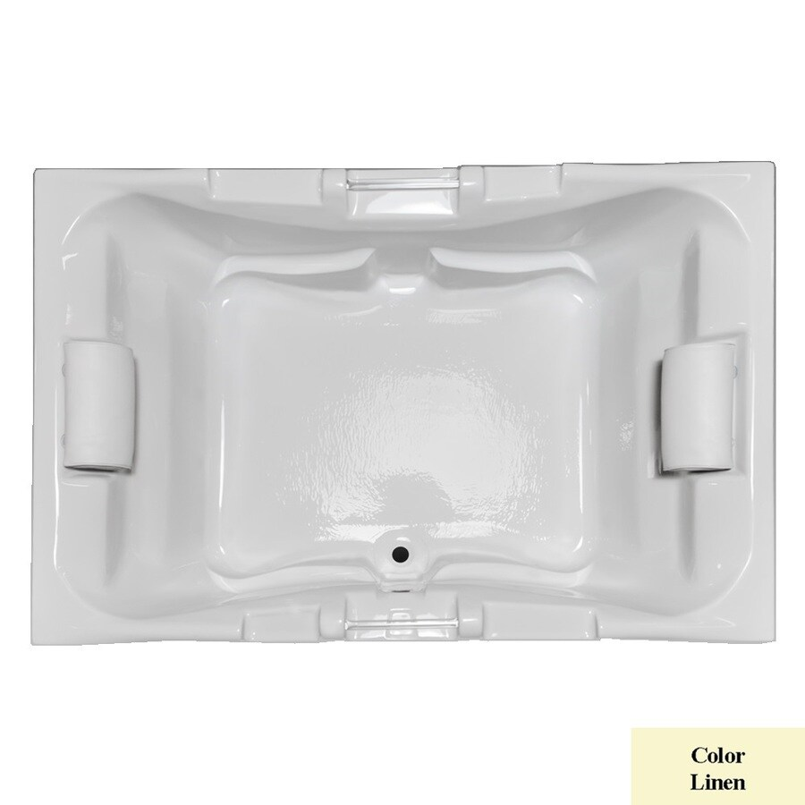 Laurel Mountain Delmont Ii Linen Acrylic Rectangular Drop-in Bathtub with Center Drain (Common: 48-in x 72-in; Actual: 23-in x 48-in x 71.25-in
