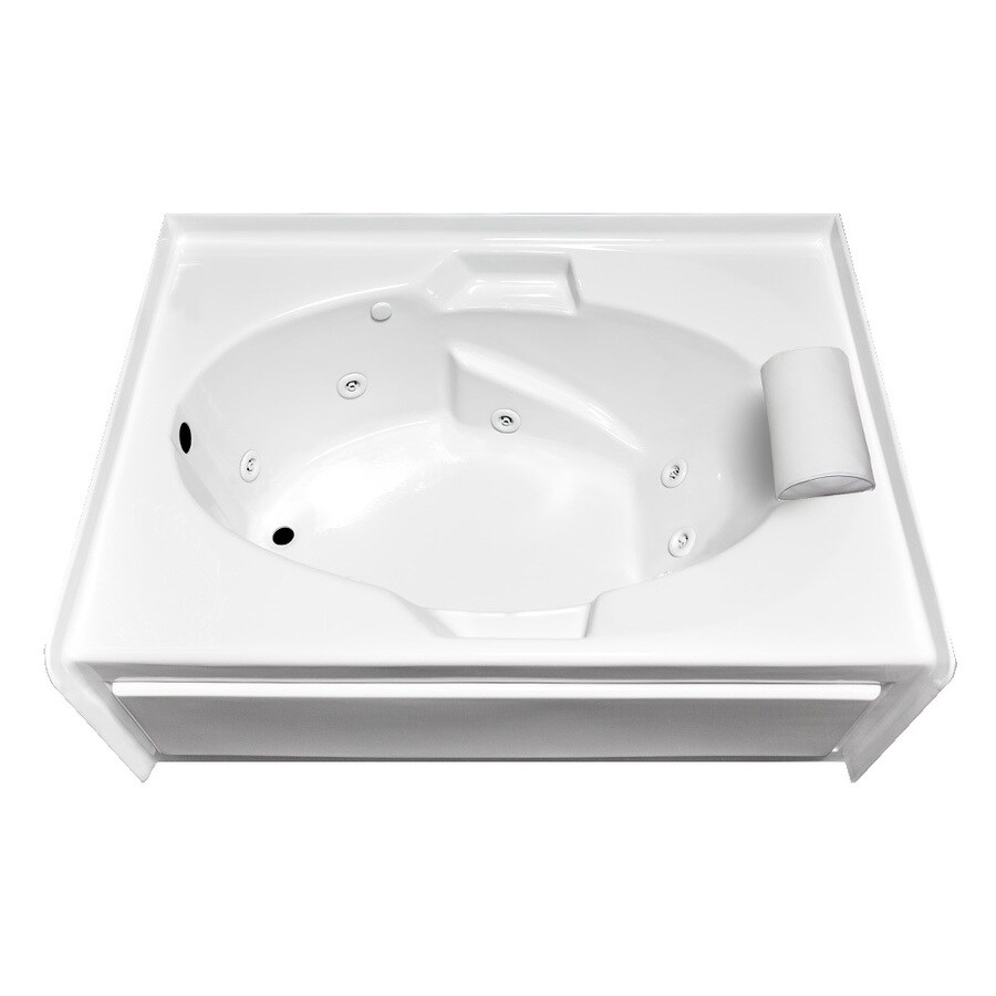 Laurel Mountain Everson V White Acrylic Oval In Rectangle Whirlpool Tub (Common: 42-in x 60-in; Actual: 22-in x 42-in x 60-in)