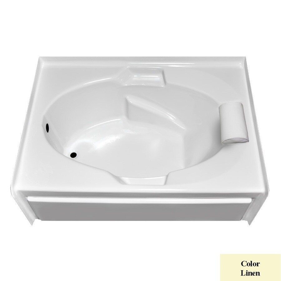 Laurel Mountain Everson Vi Linen Acrylic Oval In Rectangle Skirted Bathtub with Left-Hand Drain (Common: 42-in x 72-in; Actual: 21.5-in x 41.75-in x 71.5-in