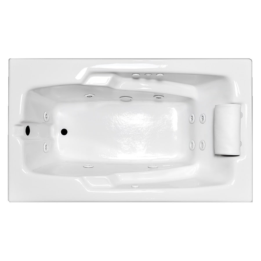 Laurel Mountain Mercer White Acrylic Rectangular Whirlpool Tub (Common:  32-in x 60