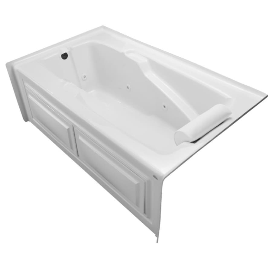Laurel Mountain Mercer V White Acrylic Rectangular Whirlpool Tub (Common: 36-in x 60-in; Actual: 22-in x 36-in x 60-in)